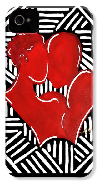 The Kiss IPhone 4 Case by Diamin Nicole