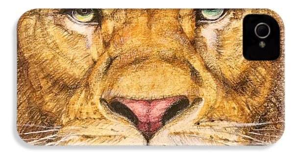 The Lion Roar Of Freedom IPhone 4 Case by Kent Chua