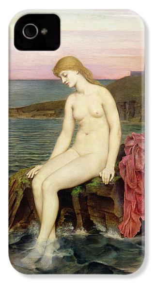 The Little Sea Maid  IPhone 4 / 4s Case by Evelyn De Morgan