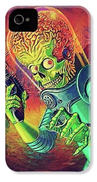 The Martian - Mars Attacks IPhone 4 Case by Taylan Apukovska