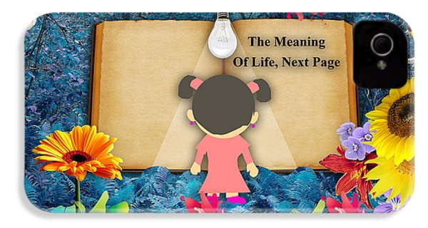 The Meaning Of Life Art IPhone 4 Case by Marvin Blaine