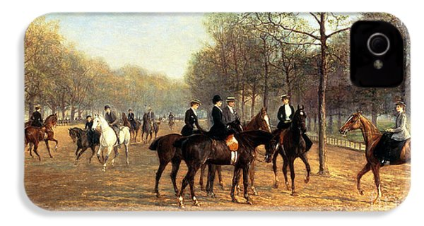The Morning Ride Rotten Row Hyde Park IPhone 4 / 4s Case by Heywood Hardy