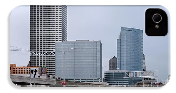 IPhone 4 Case featuring the photograph The New Milwaukee Skyline by Randy Scherkenbach