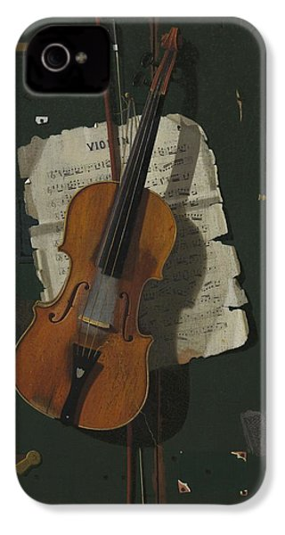 The Old Violin IPhone 4 / 4s Case by John Frederick Peto