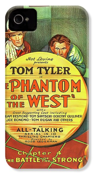 The Phantom Of The West 1931 IPhone 4 Case by Mountain Dreams