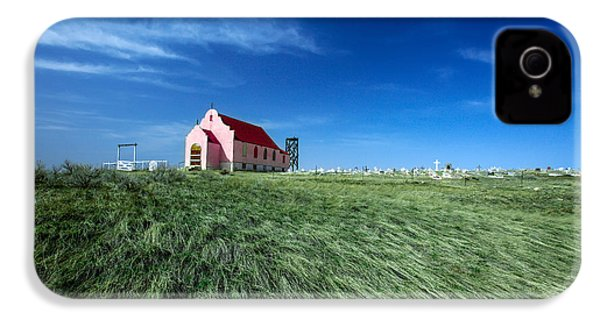 The Pink Church IPhone 4 Case by Todd Klassy