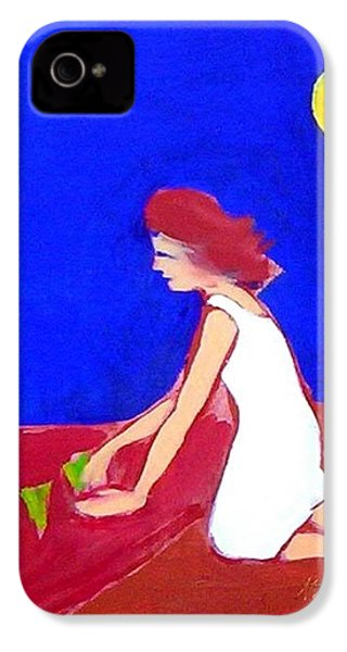 IPhone 4 Case featuring the painting The Planting by Winsome Gunning