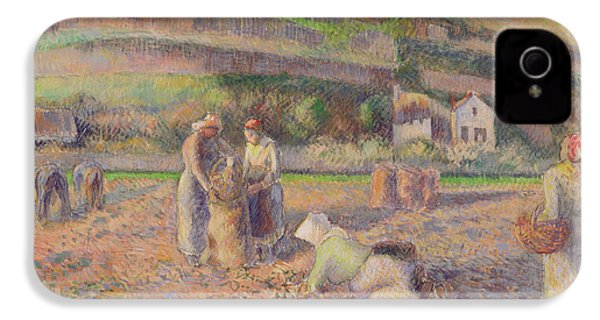 The Potato Harvest IPhone 4 Case by Camille Pissarro