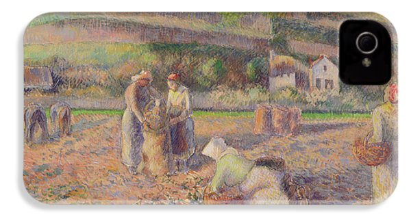 The Potato Harvest IPhone 4 Case by Camille Pissarro