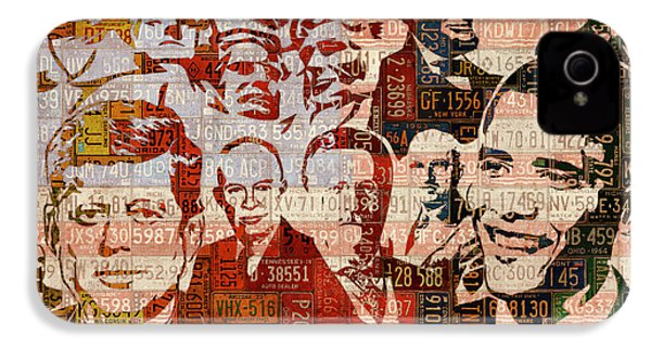 The Presidents Past Recycled Vintage License Plate Art Collage IPhone 4 Case by Design Turnpike