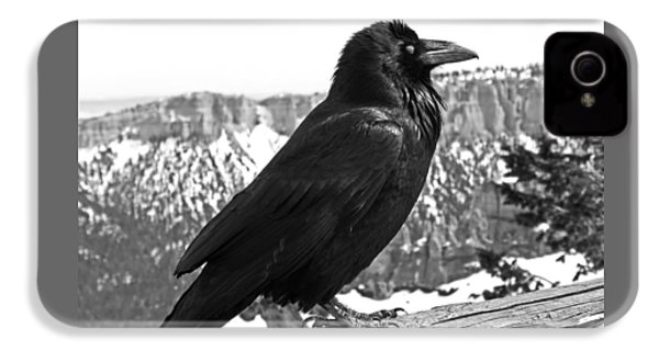 The Raven - Black And White IPhone 4 Case