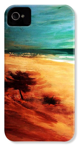 IPhone 4 Case featuring the painting The Remaining Pine by Winsome Gunning