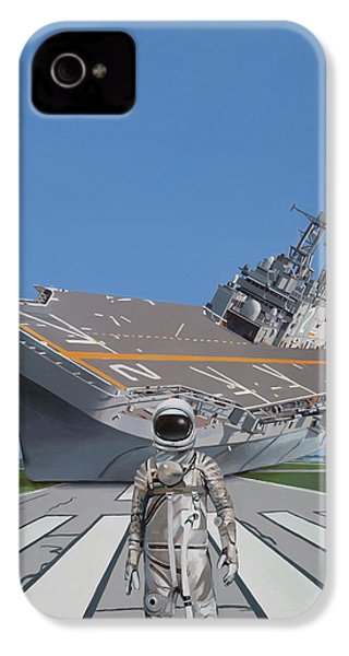 IPhone 4 Case featuring the painting The Runway by Scott Listfield