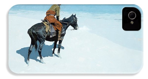 The Scout Friends Or Foes IPhone 4 Case by Frederic Remington