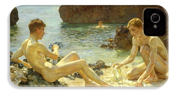 The Sun Bathers IPhone 4 Case by Henry Scott Tuke