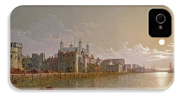 The Thames By Moonlight With Traitors' Gate And The Tower Of London IPhone 4 Case by Henry Pether