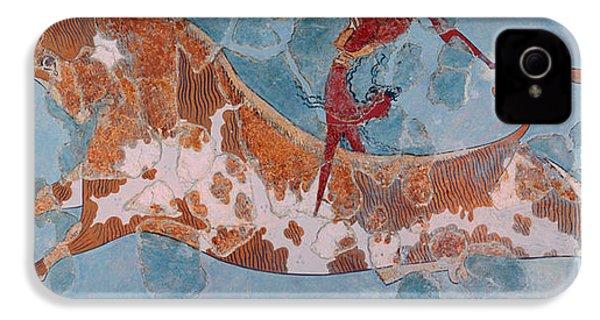 The Toreador Fresco, Knossos Palace, Crete IPhone 4 Case by Greek School