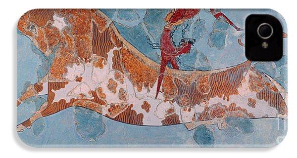 The Toreador Fresco, Knossos Palace, Crete IPhone 4 Case