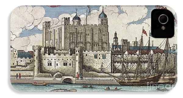 The Tower Of London Seen From The River Thames IPhone 4 Case by English School
