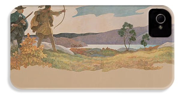 The Turkey Hunters IPhone 4 Case by Newell Convers Wyeth
