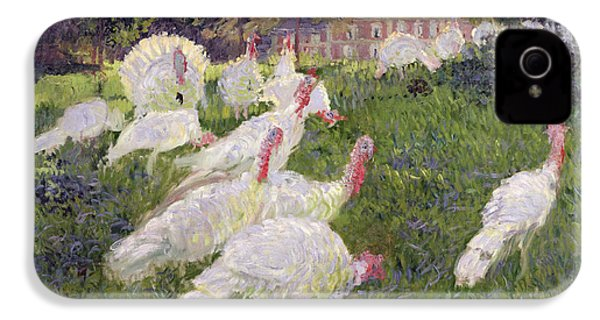 The Turkeys At The Chateau De Rottembourg IPhone 4 / 4s Case by Claude Monet