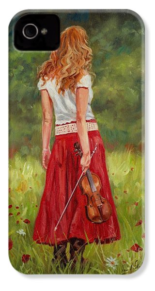 The Violinist IPhone 4 Case by David Stribbling