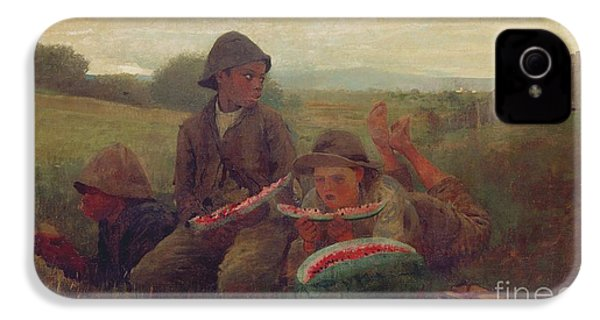 The Watermelon Boys IPhone 4 / 4s Case by Winslow Homer