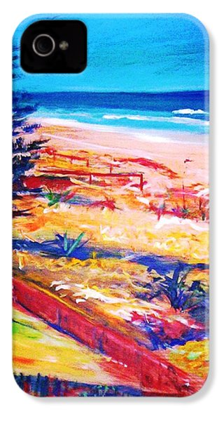 IPhone 4 Case featuring the painting The Winter Dunes by Winsome Gunning