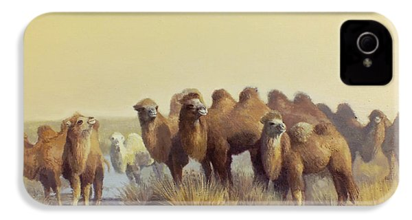 The Winter Of Desert IPhone 4 Case by Chen Baoyi