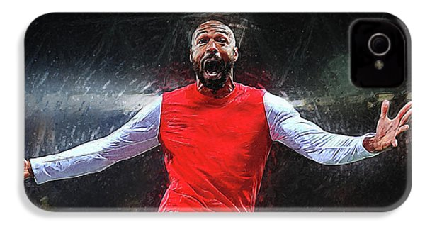 Thierry Henry IPhone 4 Case by Semih Yurdabak
