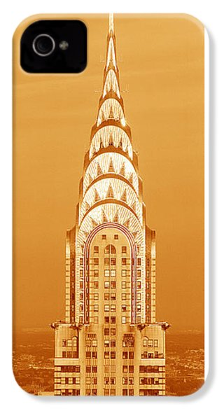 Chrysler Building At Sunset IPhone 4 Case by Panoramic Images
