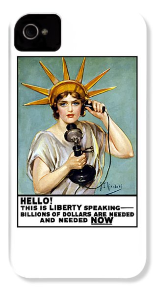 This Is Liberty Speaking - Ww1 IPhone 4 Case by War Is Hell Store