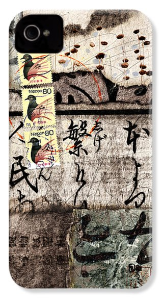 Three Bird Night Collage IPhone 4 / 4s Case by Carol Leigh