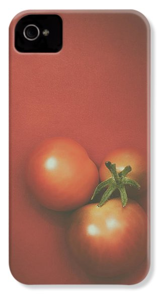 Three Cherry Tomatoes IPhone 4 Case by Scott Norris