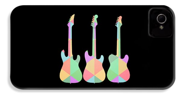Three Guitars Triangles Tee IPhone 4 / 4s Case by Edward Fielding