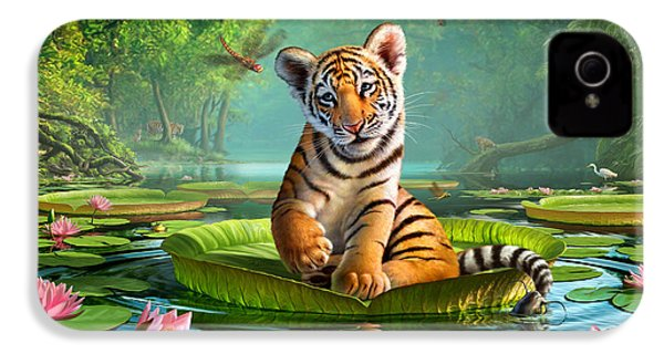 Tiger Lily IPhone 4 Case by Jerry LoFaro