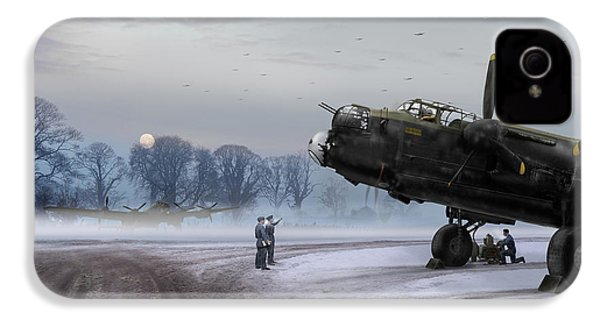 IPhone 4 Case featuring the photograph Time To Go - Lancasters On Dispersal by Gary Eason