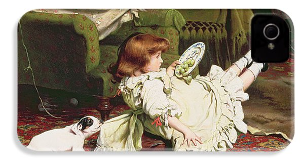 Time To Play IPhone 4 Case by Charles Burton Barber