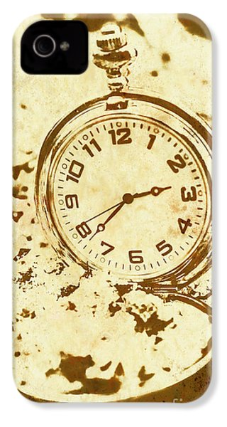 Time Worn Vintage Pocket Watch IPhone 4 Case