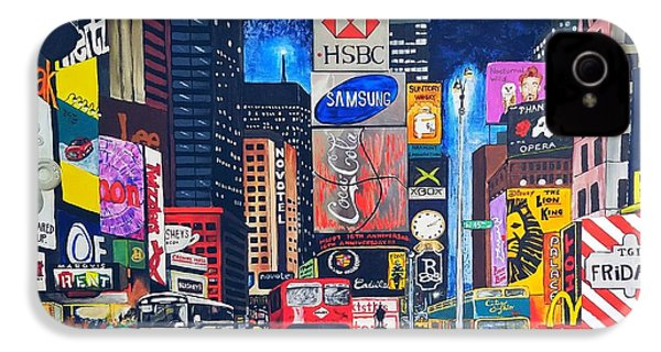 Times Square IPhone 4 Case by Autumn Leaves Art