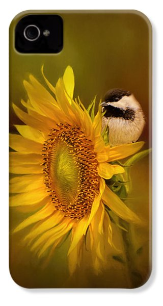 Tiny Surprise Bird Art IPhone 4 Case
