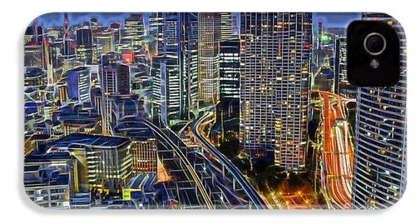 Tokyo Japan Skyline IPhone 4 Case