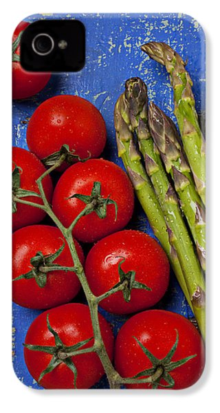 Tomatoes And Asparagus  IPhone 4 Case by Garry Gay