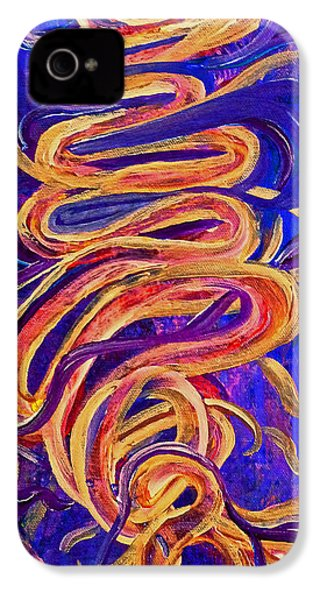 IPhone 4 Case featuring the painting Tornado Swirls by Claire Bull
