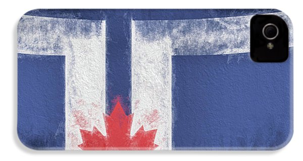 IPhone 4 Case featuring the digital art Toronto Canada City Flag by JC Findley