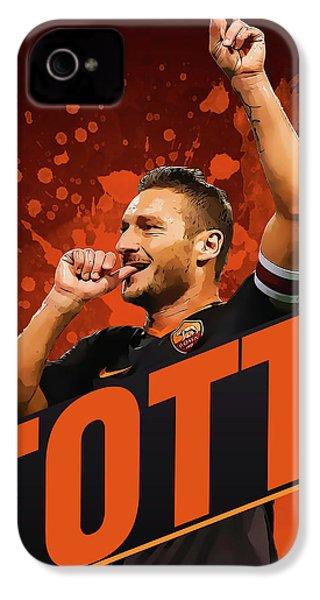 Totti IPhone 4 / 4s Case by Semih Yurdabak