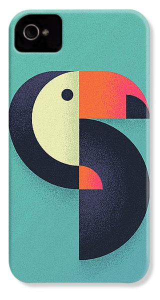 Toucan Geometric Airbrush Effect IPhone 4 Case by Ivan Krpan