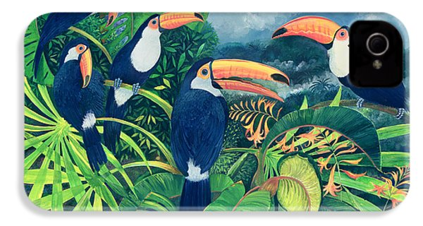 Toucan Talk IPhone 4 Case by Lisa Graa Jensen