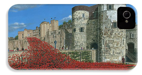 Tower Of London Poppies - Blood Swept Lands And Seas Of Red  IPhone 4 / 4s Case by Richard Harpum