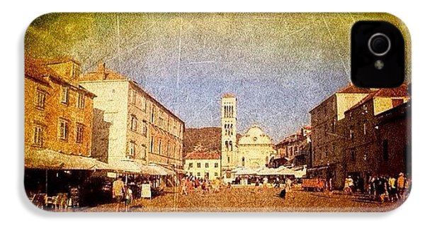 Town Square #edit - #hvar, #croatia IPhone 4 Case by Alan Khalfin